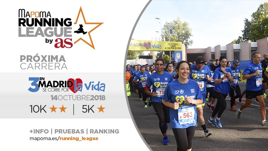 En Madrid Se corre por la Vida: Segunda carrera de la Mapoma Running League